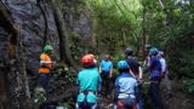 画像: <登山初級A!>『岩場講習② 三点確保のマスターと岩登り体験 定光寺の岩場』|クラブツーリズム