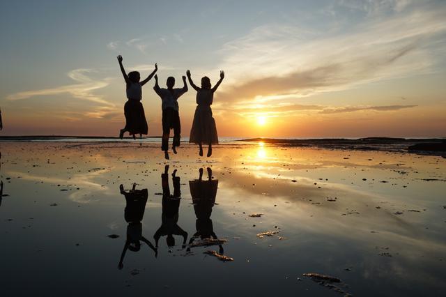画像: 天神崎の夕景 ※夕景は天候により見られない場合がございます