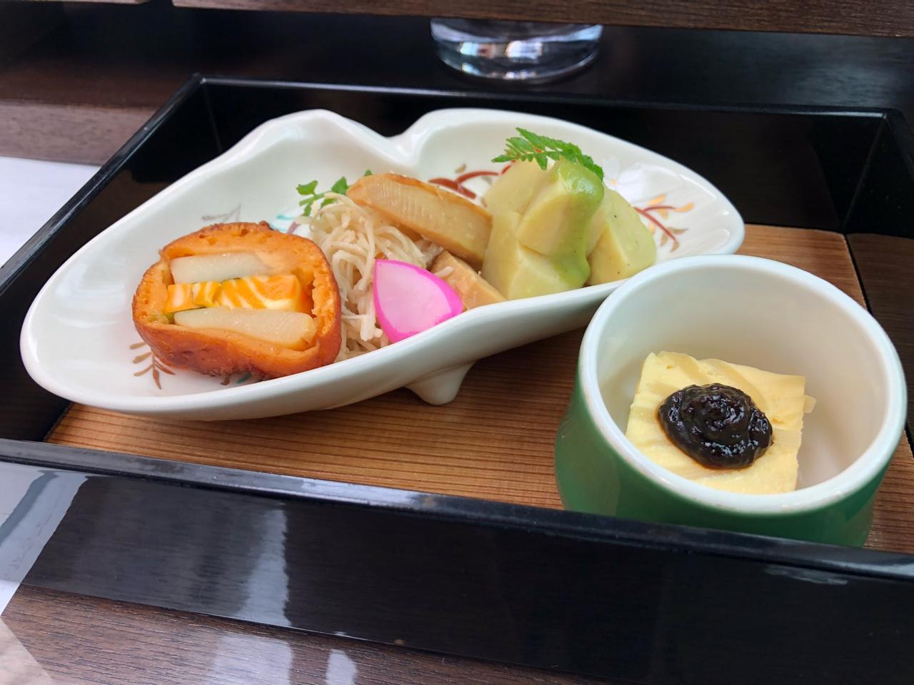 画像: 旬の食材「竹の子」を使った前菜