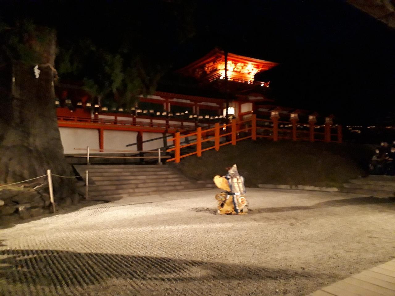画像: 舞楽の奉納(林檎の庭にて)