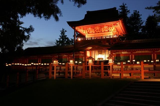 画像: 中門の夜間特別ライトアップの様子