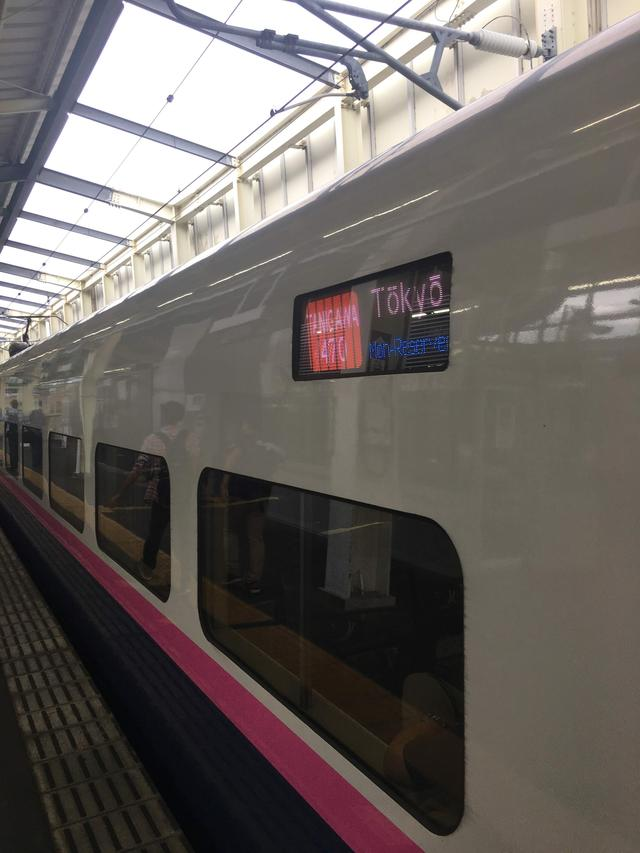 画像: 大宮駅まで運んでくれた「たにがわ470号」定時に到着