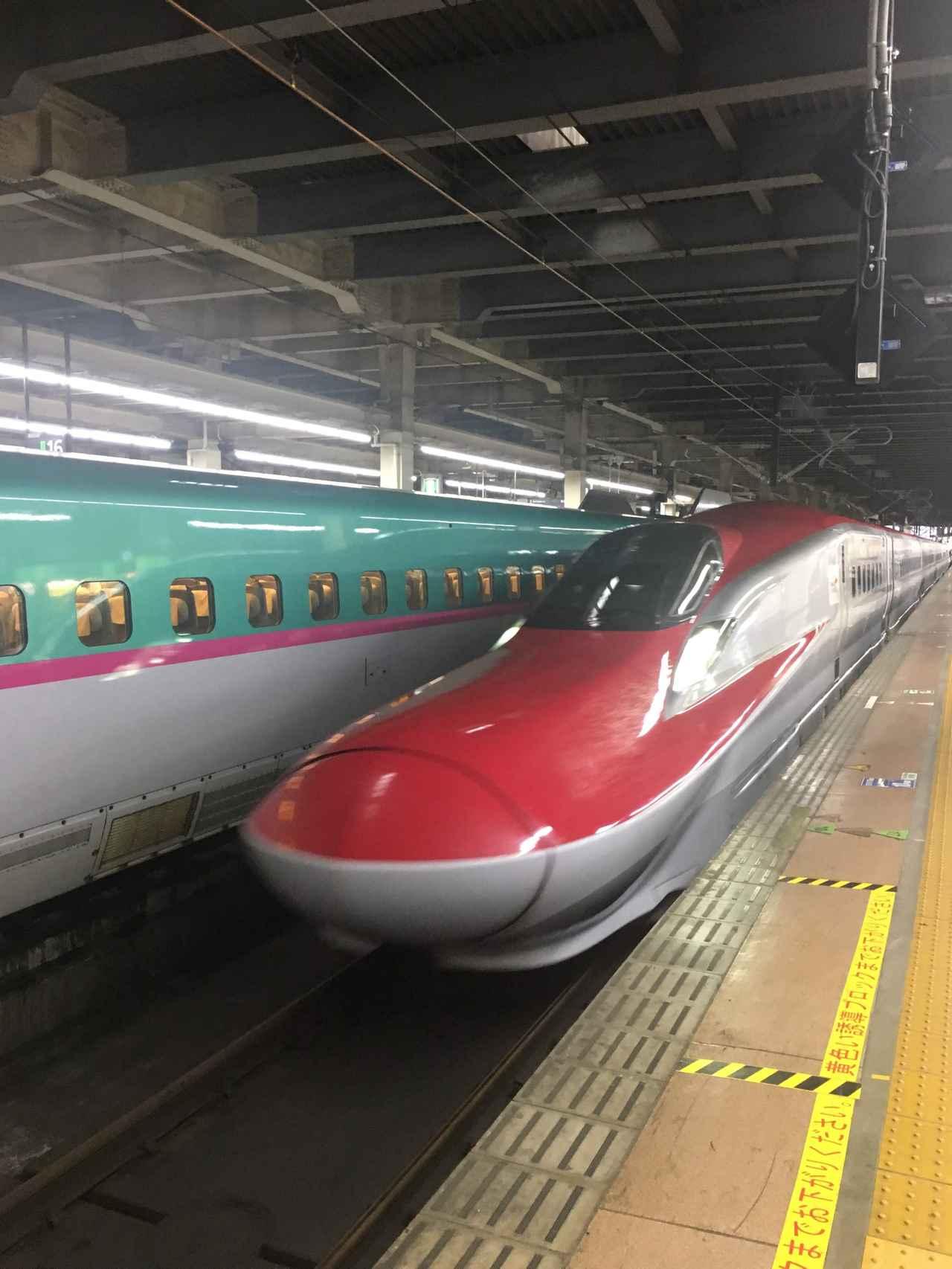 画像: 大宮駅にて8分にて乗り換えた「こまち1号」そのほとんどがB・C席でした・・・