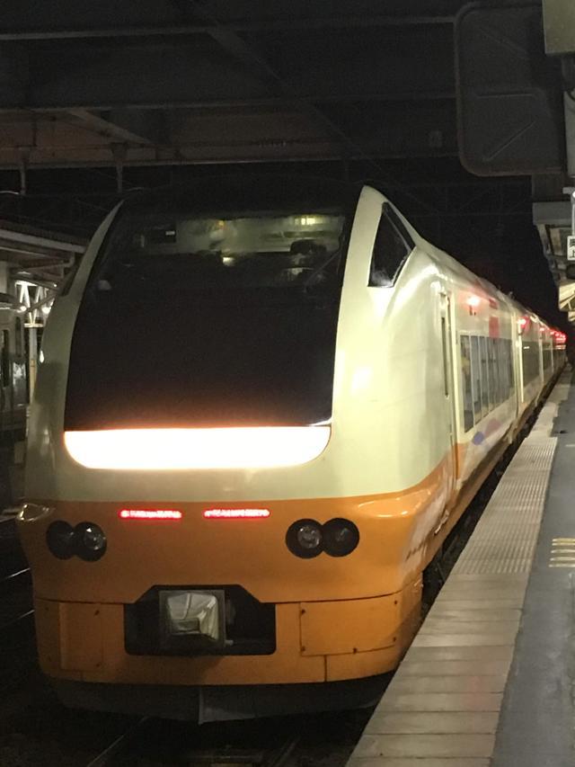 画像: 「ナマハゲロック号」が渋川駅から無事に秋田駅に来てくれました。
