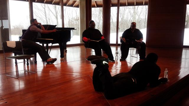 画像: NYゴスペル・ブラザーズ 八ヶ岳高原音楽堂でのオフショット