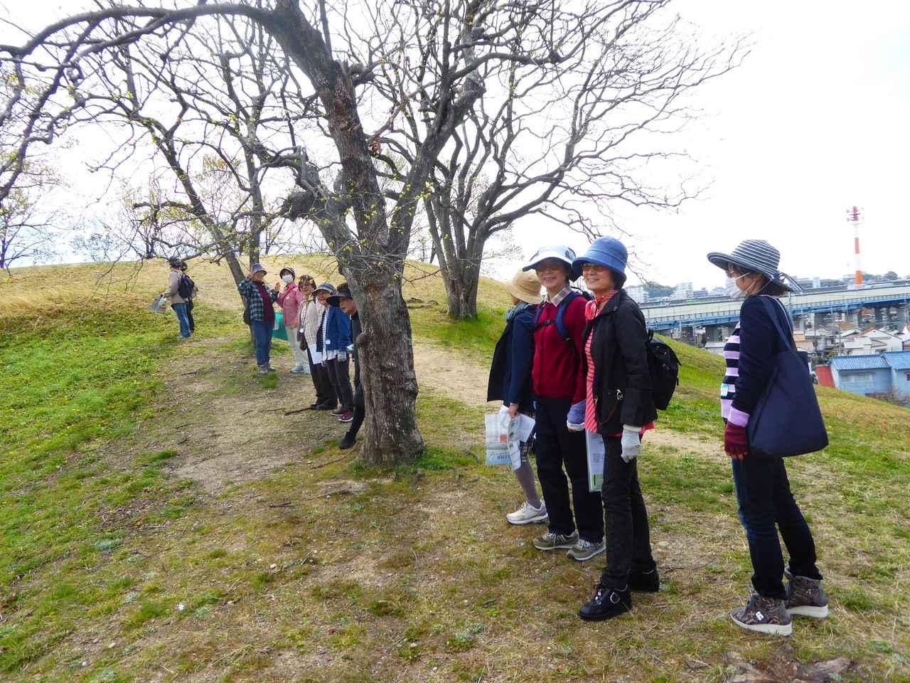 画像: 古室山古墳のてっぺんに登って良い眺めをお楽しみいただきました