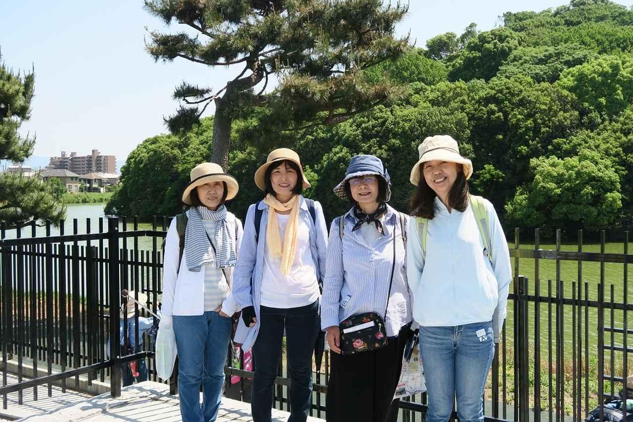 画像: ビュースポットからの履中天皇陵の眺めは良かったです。