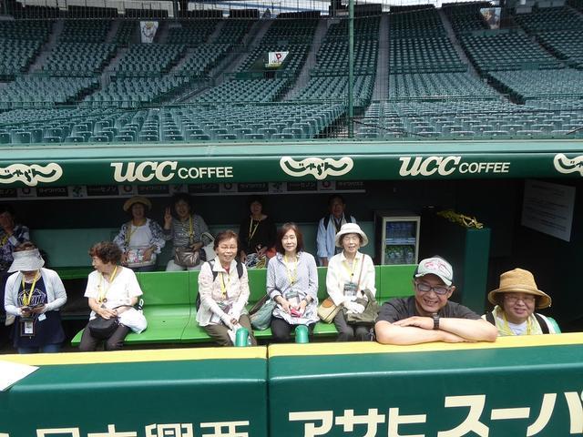画像: 3塁側のベンチでしばし休憩