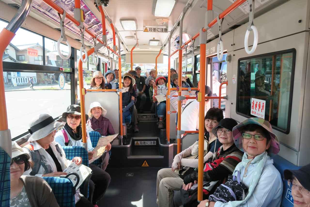 画像: 貸し切り路線バス エコーさん同士、初対面でも話が弾みます