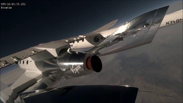 画像: スペースシップ2ユニティ 第1回パワーフライト www.youtube.com