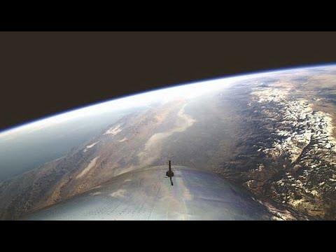 画像: 「スペースシップ2」初めての宇宙フライト成功 www.youtube.com