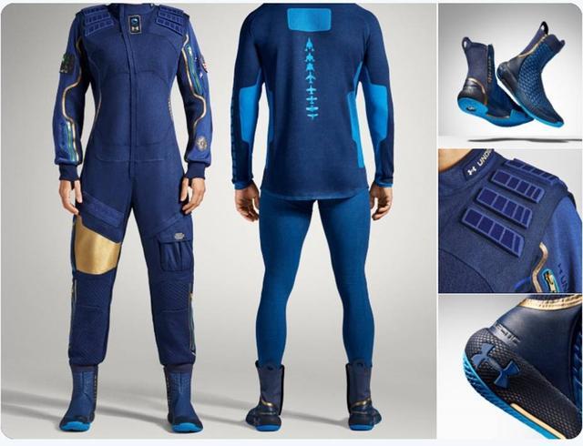画像2: 本番で着用する宇宙服が公開 アンダーアーマーがデザイン