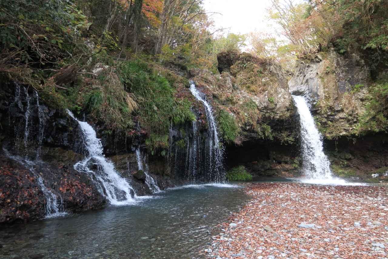 画像: 落差は約5mと小ぶりな滝ですが、素朴な姿や水音に心が安らぎます