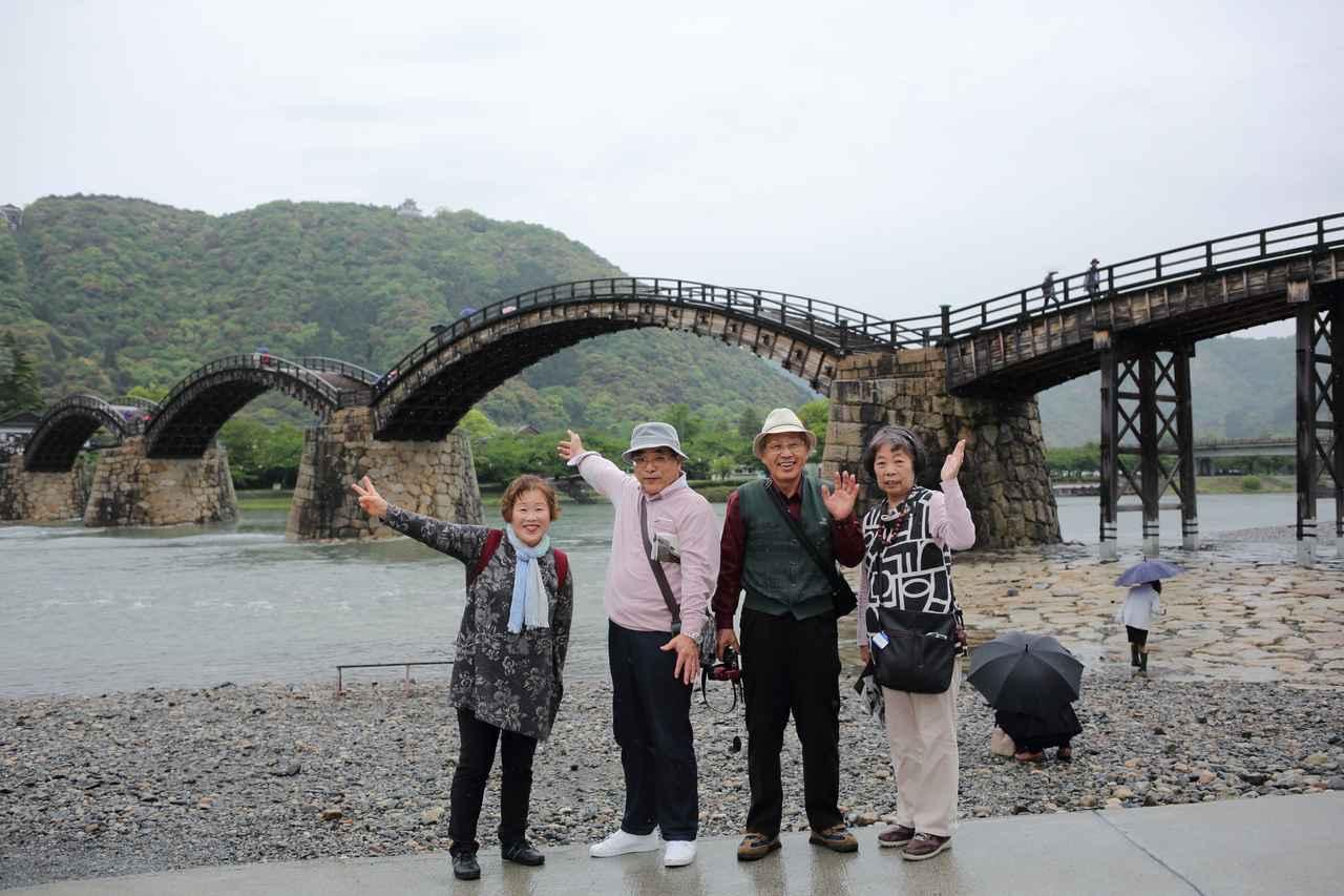 画像: 錦帯橋にて