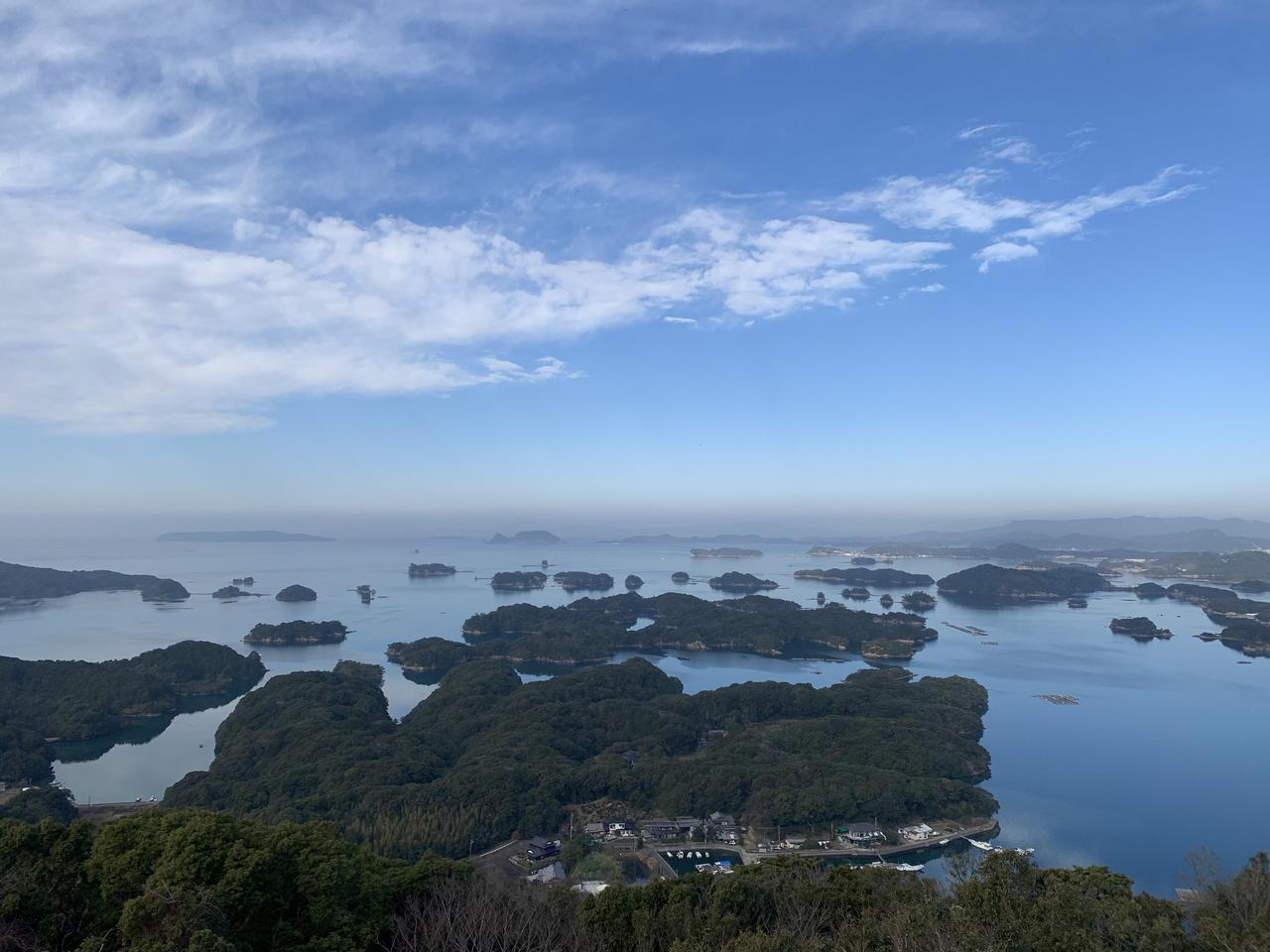 画像: 展海峰から望む九十九島