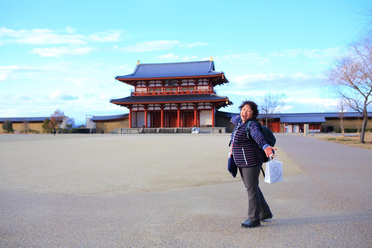 画像: ゴール地点の平城宮跡歴史公園に着きました
