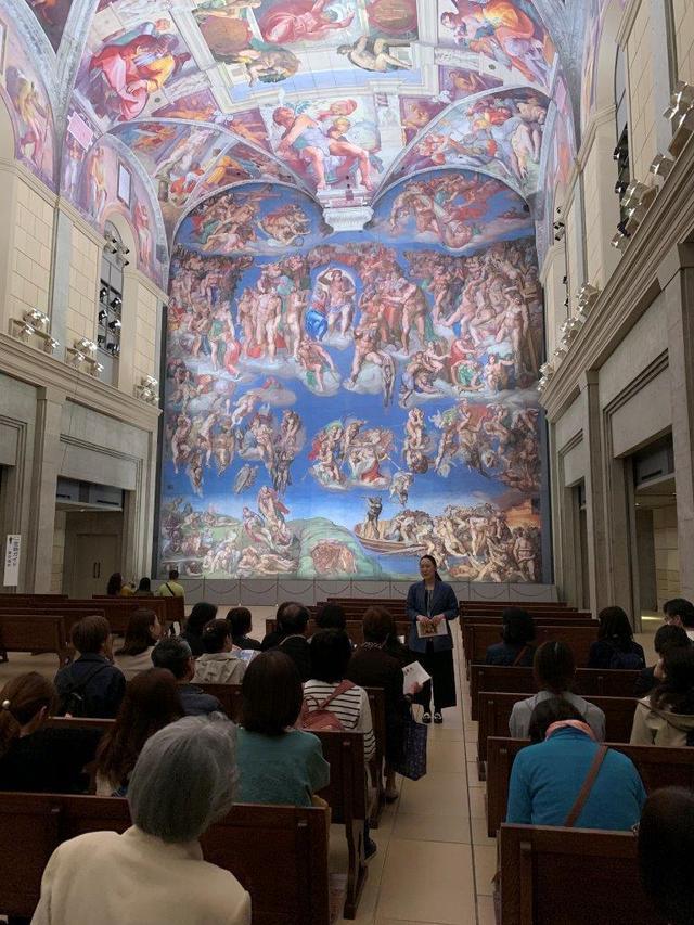 画像: システィーナ礼拝堂天井画および壁画を再現したシスティーナ・ホール