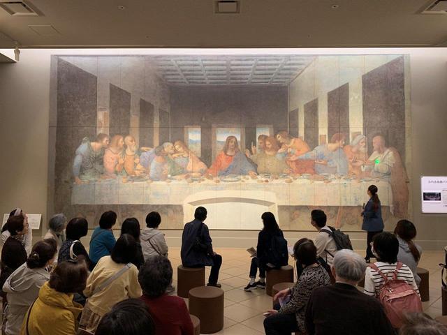 画像: レオナルド・ダ・ヴィンチの「最後の晩餐(修復後)」も解説付きで鑑賞