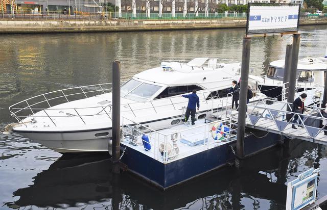 画像: 天王洲の桟橋から発着する貸し切り船(写真:旅の友編集部撮影)