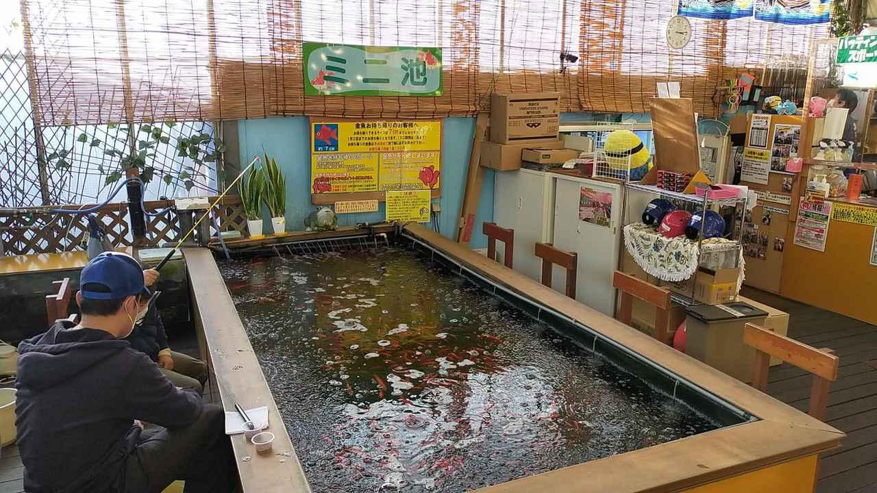 画像: 大きな釣り池のほか、金魚釣りができるミニ釣り池も