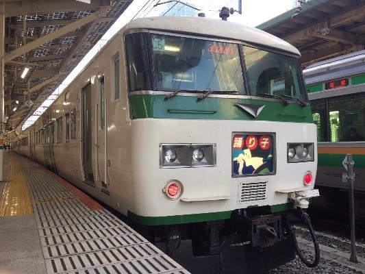 画像: 東京駅に停車中の185系特急踊り子。定期運行からの引退まであとわずか。/ 弊社スタッフ鈴木 悠斗撮影