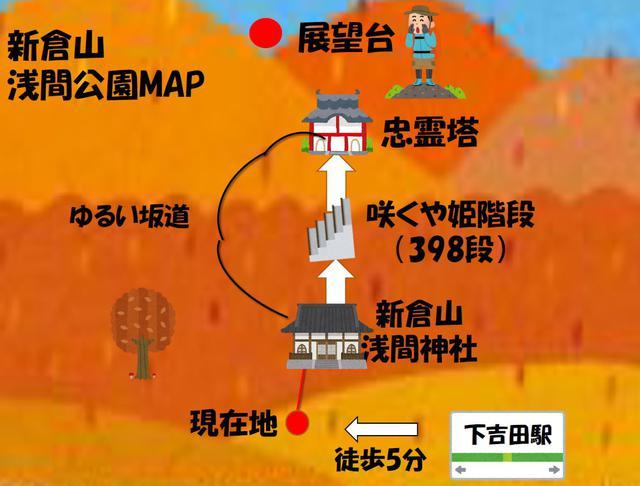 画像: 新倉山 浅間公園までのアクセスについて
