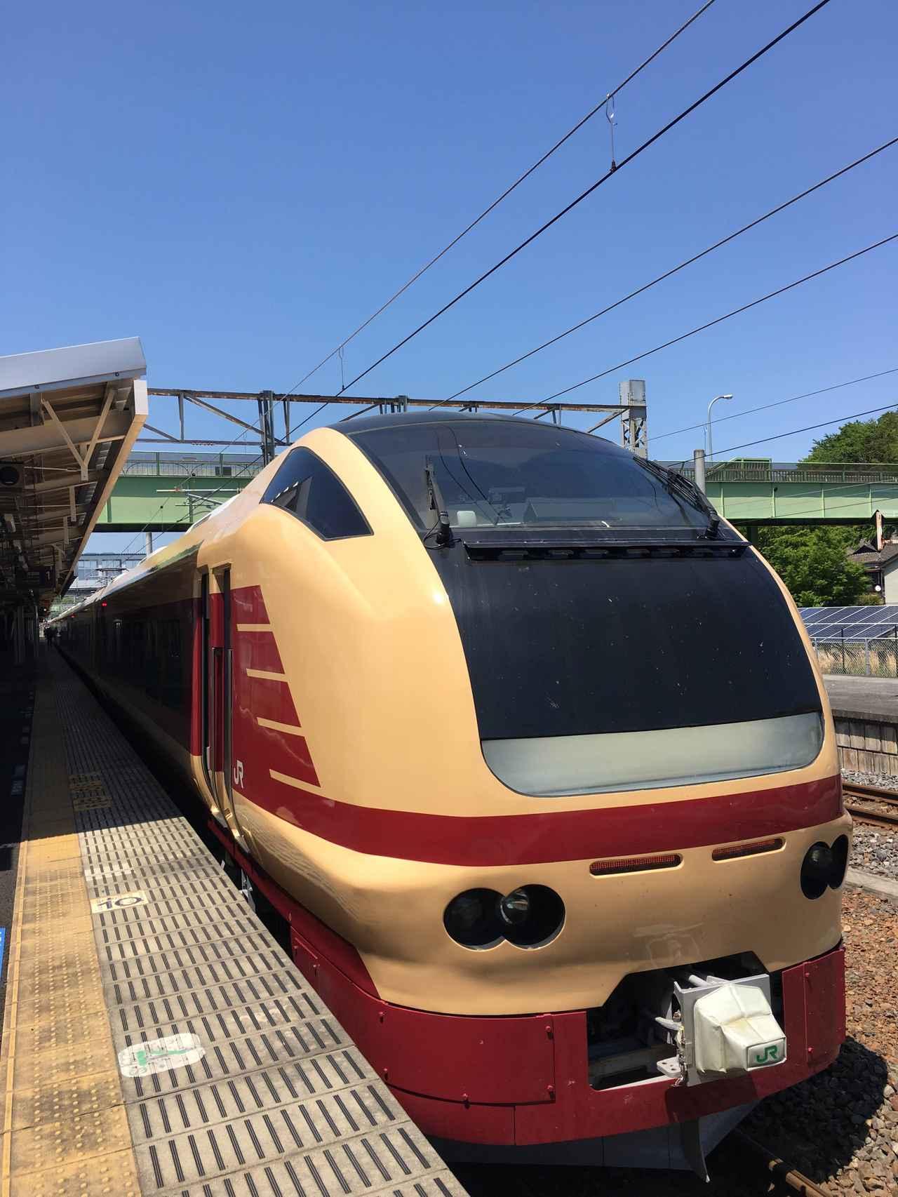 画像: 湯本駅にて撮影したE653系(大塚雅士撮影)