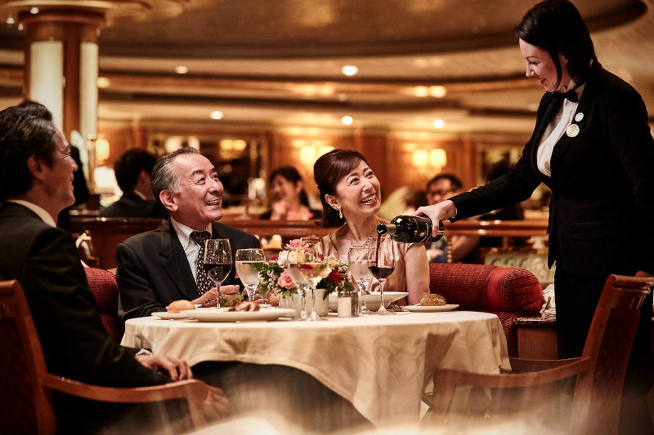 画像: ダイニングでの食事は何よりの楽しみですね ⒸPrincess Cruises