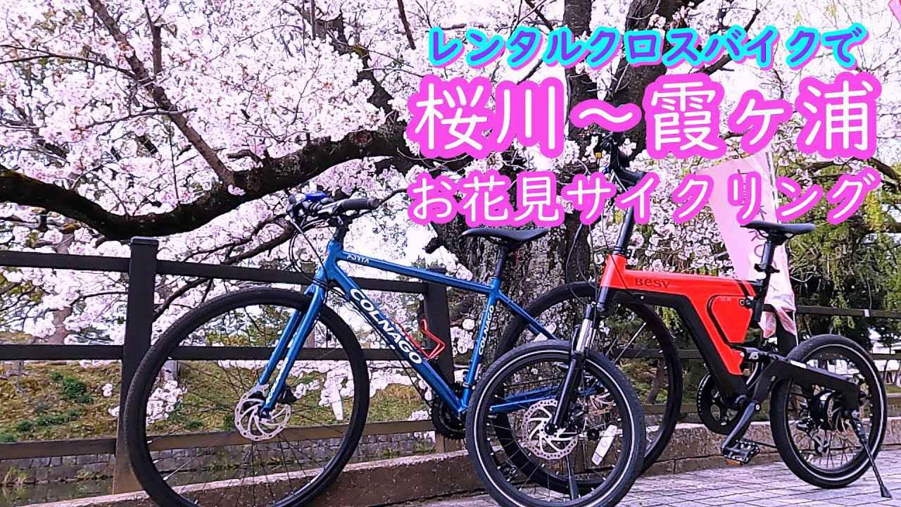 画像: レンタルクロスバイクで行く 土浦・桜川~霞ヶ浦 春の桜ライド www.youtube.com