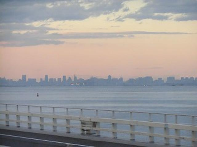 画像: 帰路アクアラインを通りました。 夕景がきれいでしたね。