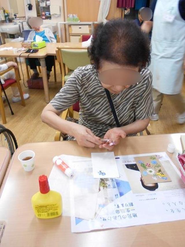 画像1: 手工芸 押し花で額かざり