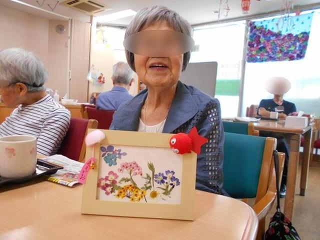 画像3: 手工芸 押し花で額かざり
