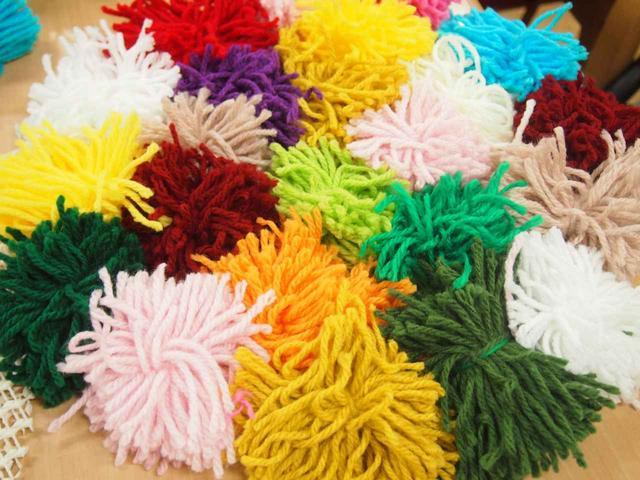 画像6: 手工芸 毛糸のボンボン