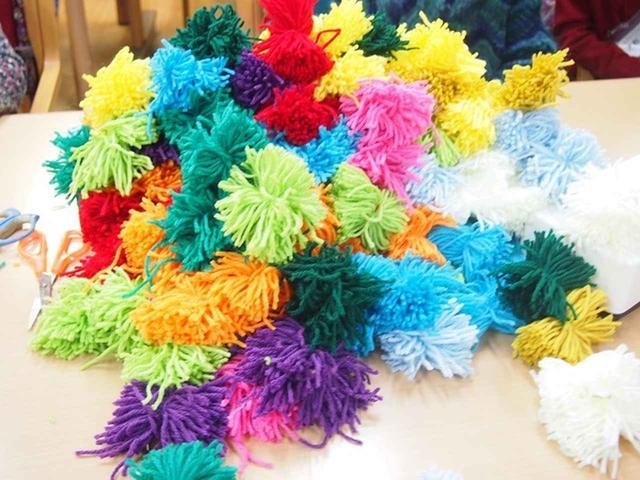 画像3: 手工芸 毛糸のボンボン