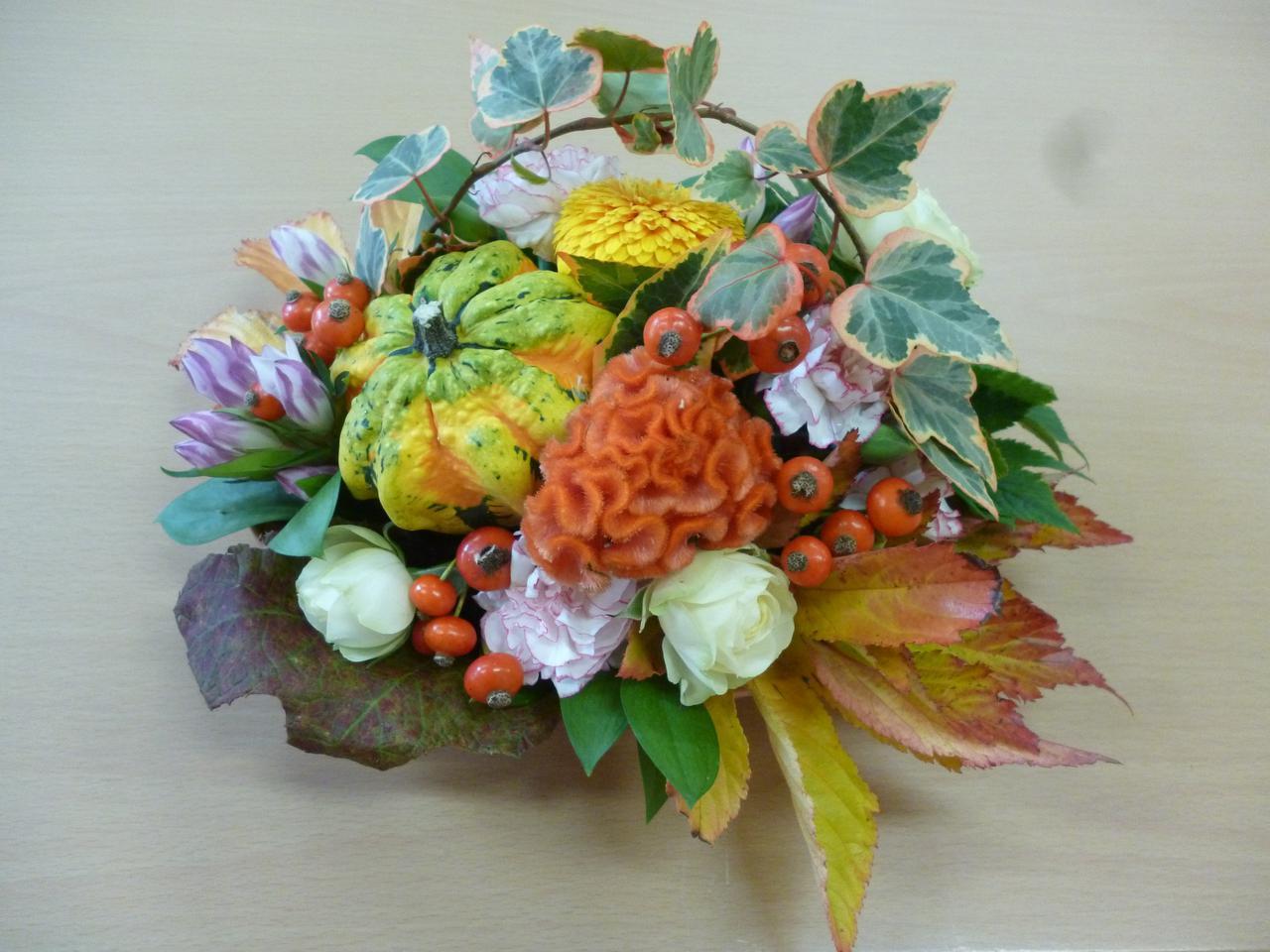 画像1: ハロウィンのフラワーアレンジ