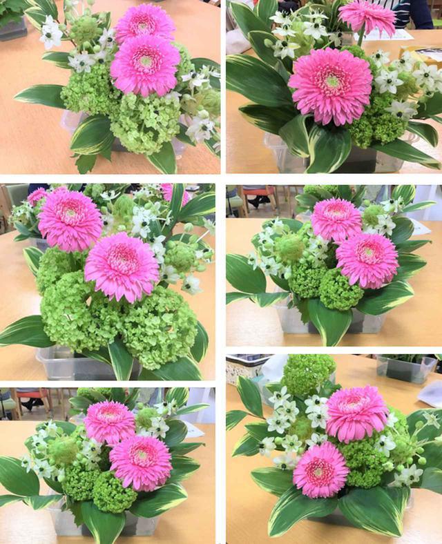 画像3: 『本日のお花たち』をご紹介。 ・ガーベラ(トレーシー) ・オニソガラム(サンペルシー) ・ビバーナム(スノーボール) ・ナルコラン