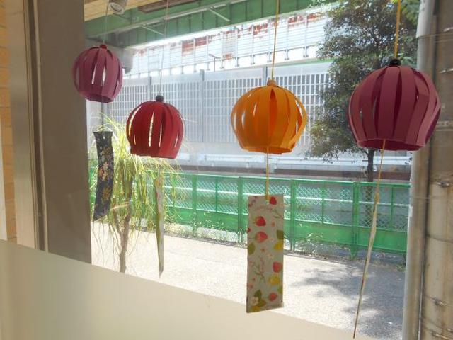 画像2: 季節工作【折り紙風鈴】