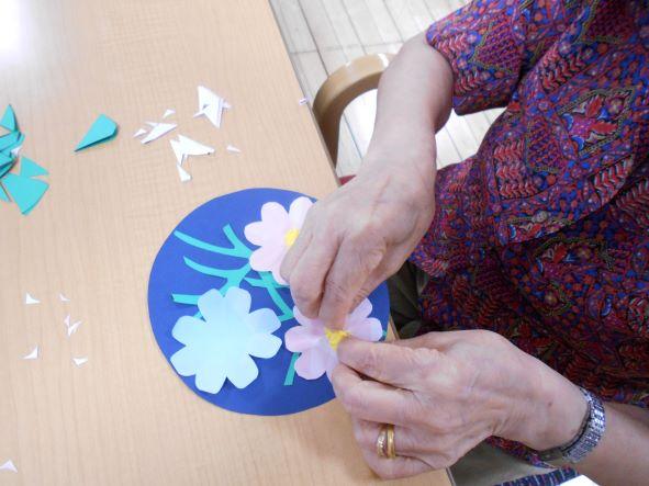 画像4: 季節の工作「紙工作・秋桜」