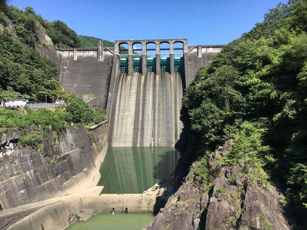 画像: 丸山ダム正面
