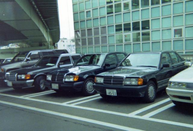 画像: 1990-91年頃。玉川高島屋SCの駐車場にて。