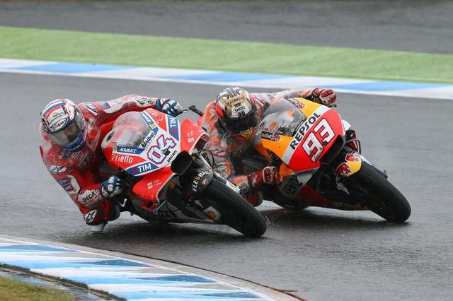 画像: 【モトGP2017 日本GP】雨中のレースでマルケスが激闘2位