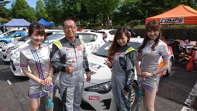 画像: 渋川戦107号車のチームメンバー。ラリークィーンも。