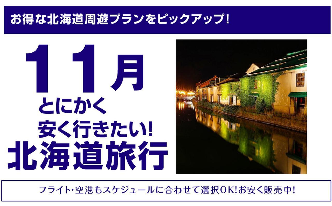 画像: 11月北海道旅行!とにかく安く行きたい!-北海道旅予約.com