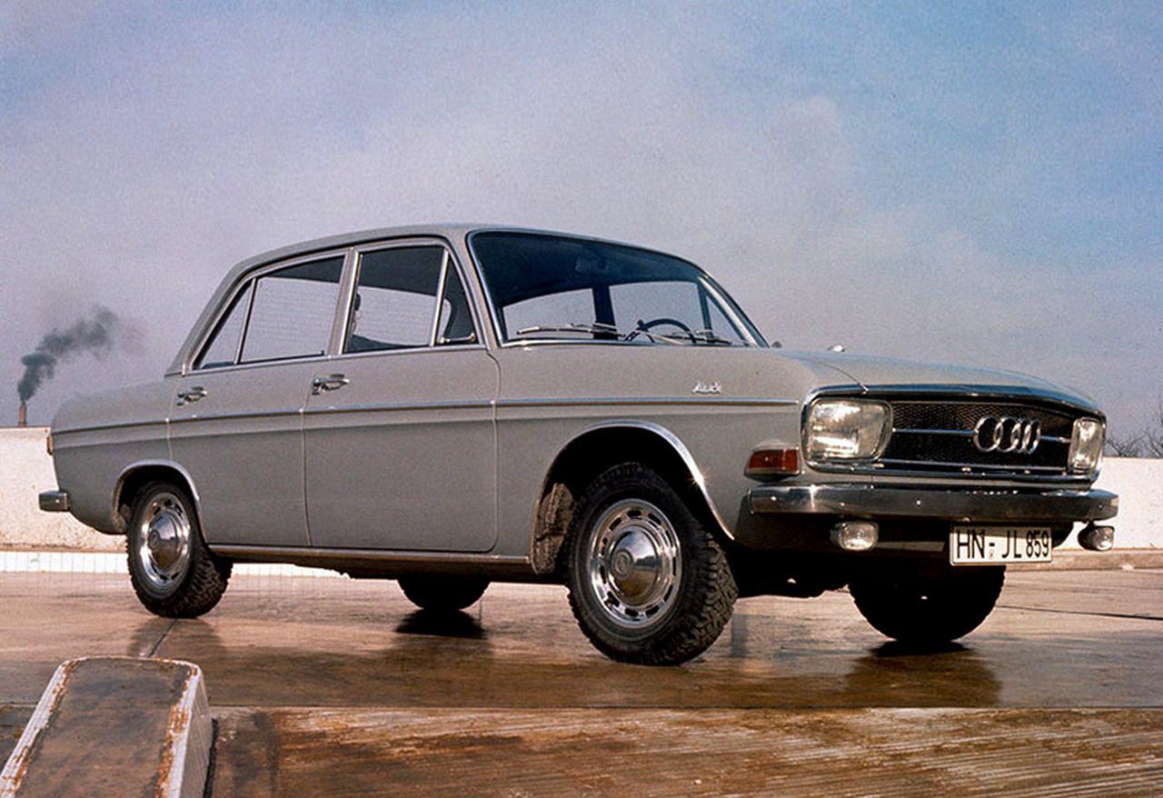 画像: 【アウトウニオン・アウディ(F103)スーパー90】 1965-1972 アウトウニオン F102をさらに近代化した戦後初のアウディがF103。現在のアウディへの潮流はここから始まった。スーパー90は途中で追加された上位モデルで、90は最高出力を示した。 www.favcars.com