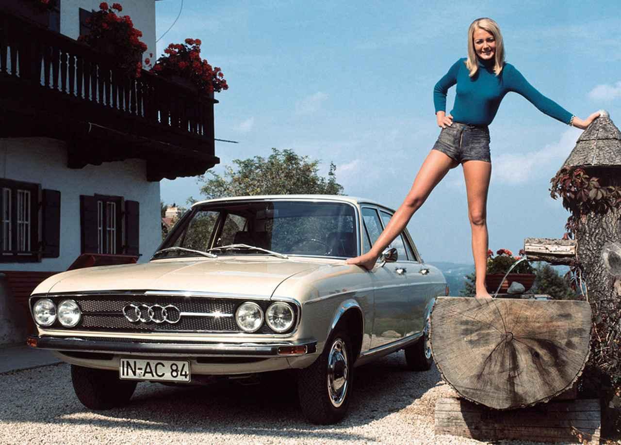 画像: 【アウディ100(C1)】 1968-1976 アウディF103を一回り大きくしたフラッグシップモデル。100という数字は最高出力ではなく、「シリーズ」名となった。アウディ100はその後4世代を重ね、1994年にA6にシリーズ名称を変更している。 www.favcars.com