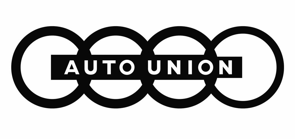 画像: 【アウトウニオンのエンブレム】 現在もアウディで用いられるフォーシルバーリングスの原型。4つの輪はDKW、ヴァンダラー、ホルヒ、アウディの4社を示す。 www.favcars.com