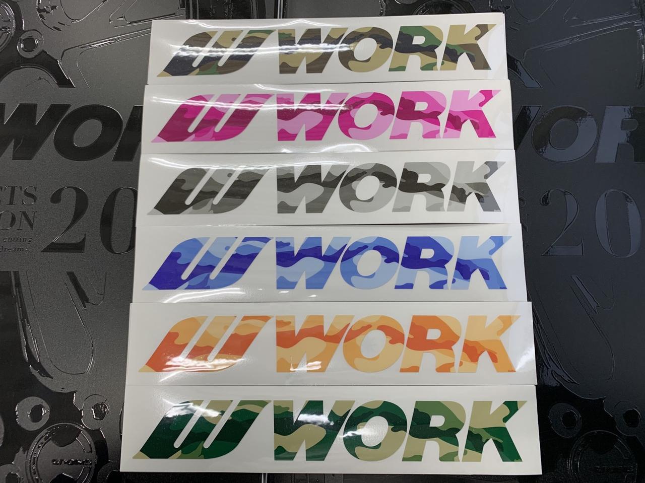 画像: WORKカモフラステッカーは限定12名様にプレゼント