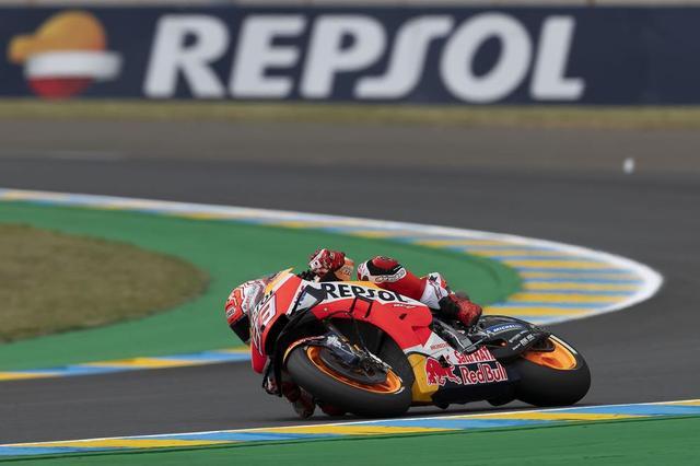 画像: 【モトGP2019 フランスGP2日目】マルケスが難しいコンディションの中、ポールを獲得