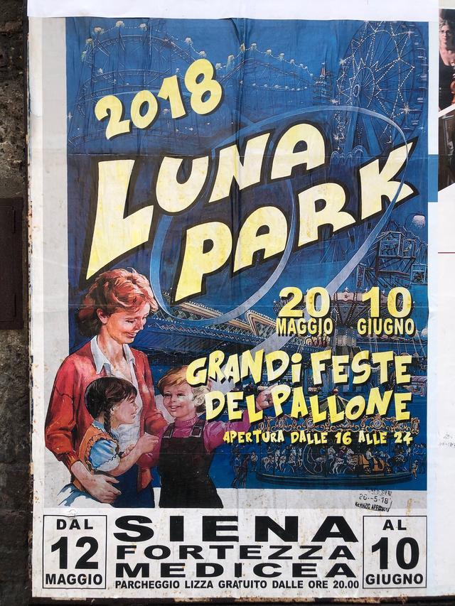 画像: 期間限定遊園地「ルナパーク」告知ポスターの一例。