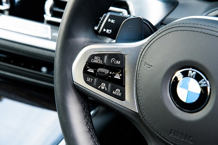 画像: ステアリングホイールには運転支援システムADASの操作スイッチを装備。アクティブ・クルーズコントロールはボタンで簡単に作動する。